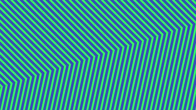 vídeos de stock e filmes b-roll de abstract neon green light arrow direction on blue blackgroud - cor néon