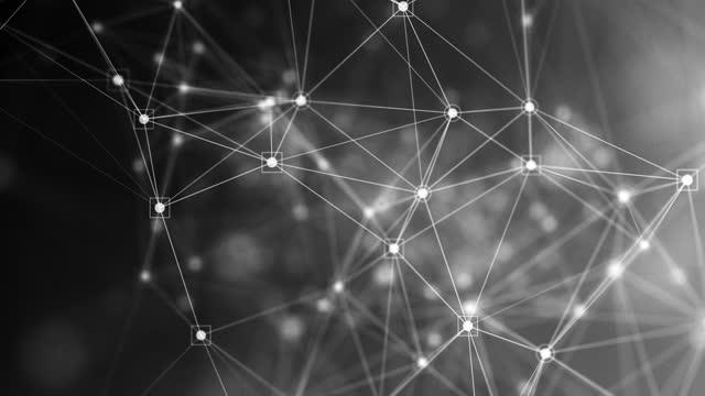 vídeos de stock, filmes e b-roll de fundo de rede e tecnologia 4k abstract (loopable) - esfera