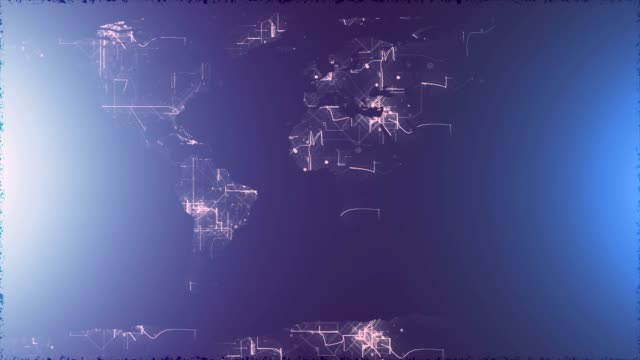 Abstract network map background