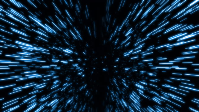 vidéos et rushes de résumé de la vitesse légère et de la vitesse de distorsion dans la piste verte d'étoile - météore