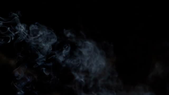 抽象煙の - グレースケール点の映像素材/bロール