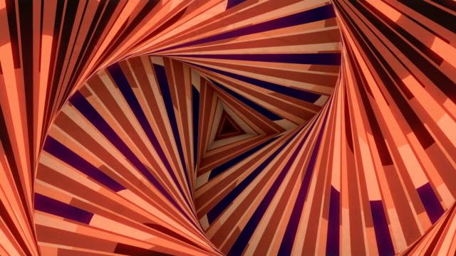 vídeos de stock, filmes e b-roll de fundo ótico abstrato da arte. linhas geométricas coloridas da forma do triângulo. animação digital em loop sem costura. renderização 3d. resolução 4k e ultra hd - elemento de desenho