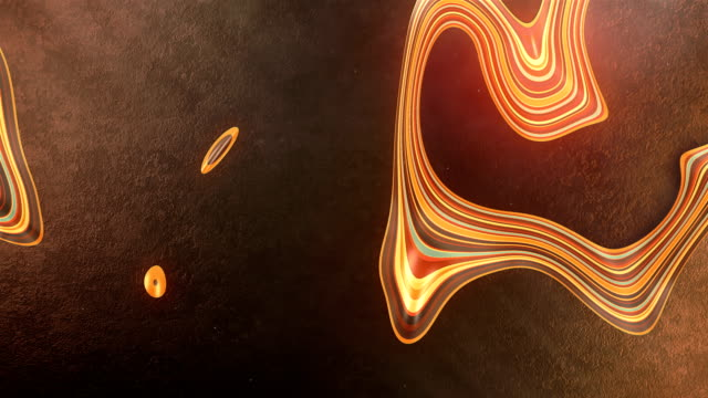abstract orange colored glowing pattern cuts through the dark concrete surface. 3d rendering seamless loop animation. decorative color art. 4k, ultra hd resolution. - decorative art stock videos & royalty-free footage