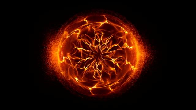 Abstract orange Energie ausgelösten Hintergrund