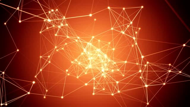Astratto arancione connessione di rete