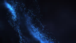 Abstract Particle Background (Dark Blue) - Loop