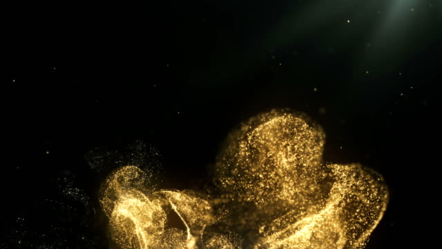 abstract particle background (gold) - ethereal stock videos & royalty-free footage