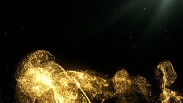 abstract particle background (gold) - gold medalist stock videos & royalty-free footage