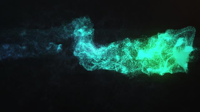抽象粒子効果 - changing form点の映像素材/bロール