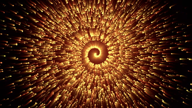 vídeos de stock e filmes b-roll de abstract particle spiral background 4k loop - espiral