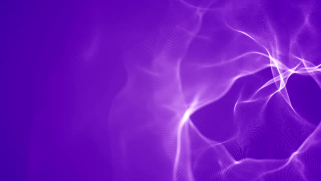 abstract particles loopable background (purple) - quantum physics stock videos & royalty-free footage