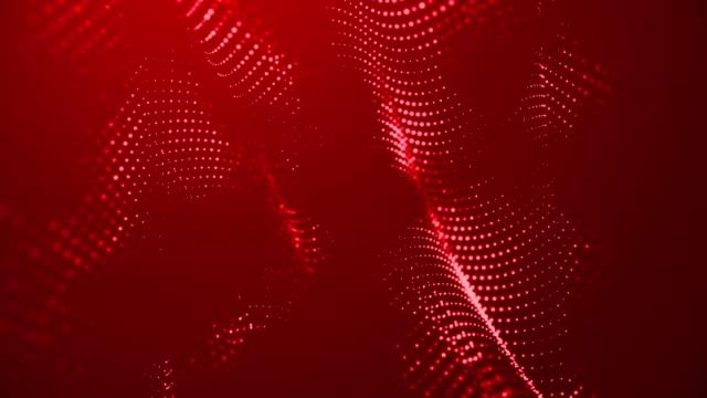 vídeos y material grabado en eventos de stock de las partículas abstractas que mueven los puntos desdibujan el bucle de fondo. puntos y conexión con líneas de profundidad de campo poco profunda. espacio digital mágico. macro filmó gráficos en movimiento de animación 3d. (loopable) - juntar los puntos