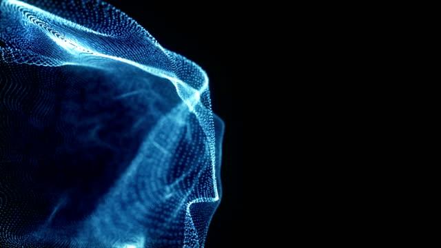 vídeos de stock e filmes b-roll de abstract particles - átomo