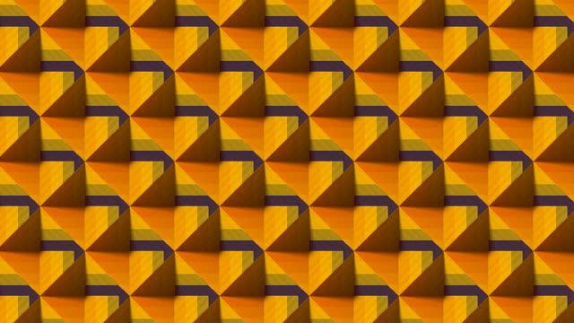 ストライプピラミッドを移動する抽象的なパターン。3d レンダリングデジタルシームレスループアニメーション。4k、ウルトラhd解像度 - 投影図点の映像素材/bロール
