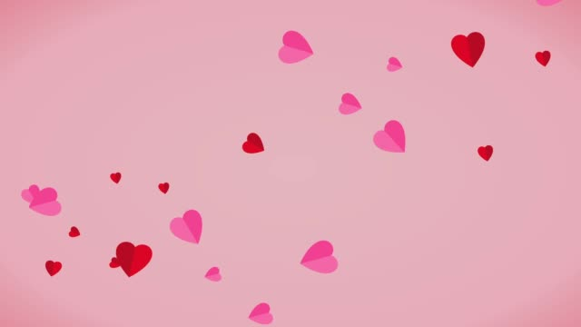Abstract pink color background with heart shape and valentine's day card