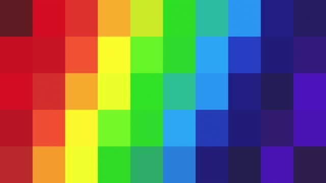 vídeos y material grabado en eventos de stock de abstracta fondo pixelado - colores del arco iris - arco iris