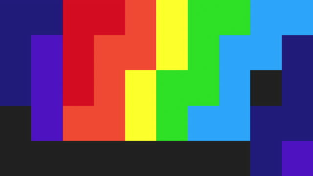 abstract pixelated background - rainbow coloured - pixelated stock videos and b-roll footage
