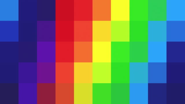 abstract pixelated background - rainbow coloured - mosaic stock videos & royalty-free footage