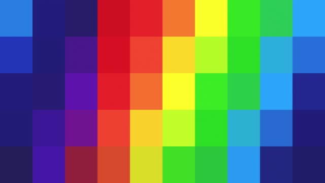 abstrakte pixelig hintergrund - rainbow coloured - kachel stock-videos und b-roll-filmmaterial