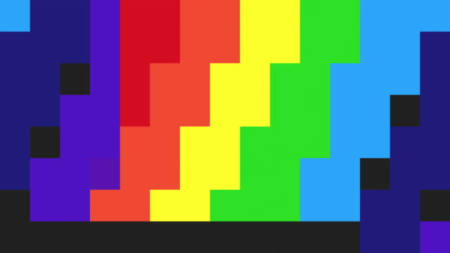 abstract pixelated background - rainbow coloured - pixellated stock videos & royalty-free footage