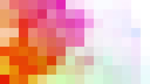 abstract pixelated background - multicolore video stock e b–roll