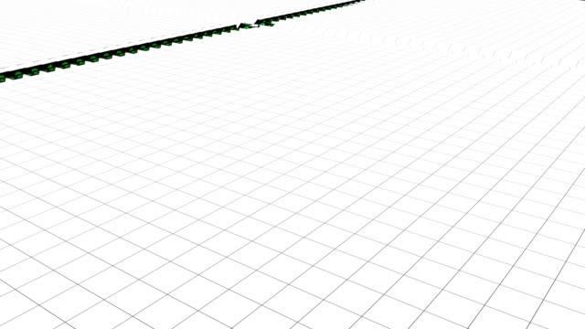 デジタル キューブ反転の抽象平面 - 床点の映像素材/bロール