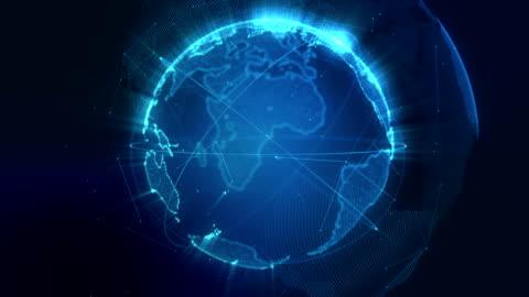 vídeos y material grabado en eventos de stock de resumen planeta tierra en bucle azul - imagen generada digitalmente