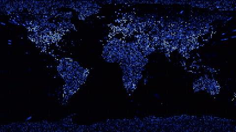 vídeos y material grabado en eventos de stock de resumen planeta tierra en bucle azul - mapa mundial