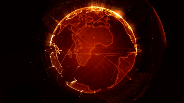 抽象地球ループできるオレンジ - south pacific ocean点の映像素材/bロール