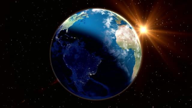 vídeos de stock e filmes b-roll de abstract planet earth loopable - homem e máquina