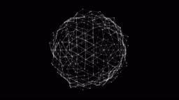 Abstract plexus sphere surface loop