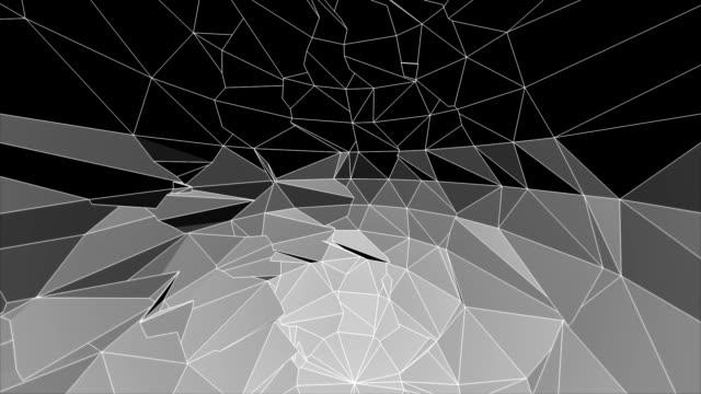 抽象的な背景のアニメーション、HD 多角形