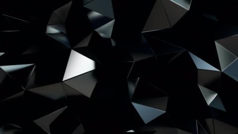 vídeos y material grabado en eventos de stock de abstract polygonal fondo metal negro animación 4k - diseño temas