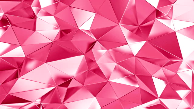 abstrakte polygonalen valentine hintergrundanimation - metallic look stock-videos und b-roll-filmmaterial