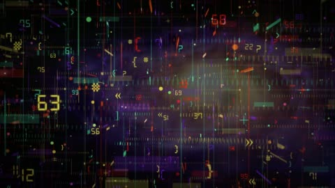 vídeos y material grabado en eventos de stock de código de programa abstracto - group of objects