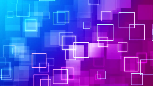 abstract purple squares background - (loopable) - square stock videos & royalty-free footage
