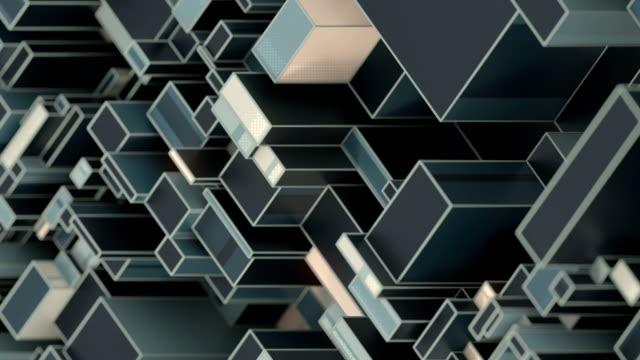 abstract randomly moving pattern of rectangular geometric shapes. seamless loop animation. 3d rendering. hd resolution - optical illusion stock videos & royalty-free footage