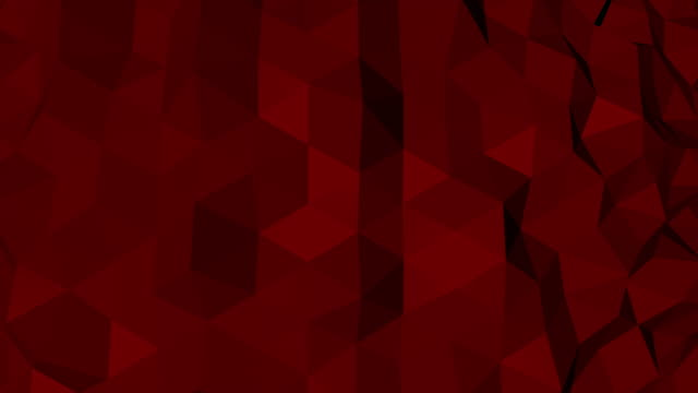 Abstract red and black geometric triangle Polygon background in endless loop, 4K(UHD)