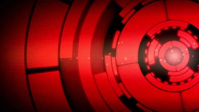 abstract red circle spin motion background - disk stock videos and b-roll footage