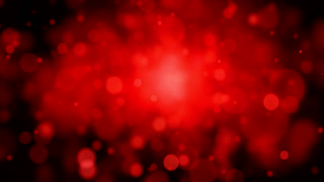 Abstract red dots animation