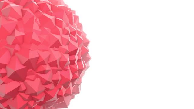 Abstrakte Polygon geometrischen Form Animation Rot