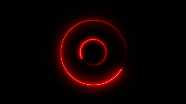 abstract red loop circle tunnel background - music video stock videos & royalty-free footage