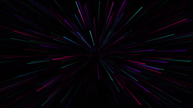 abstract retro of warp or hyperspace motion in star trail - eternity stock videos & royalty-free footage