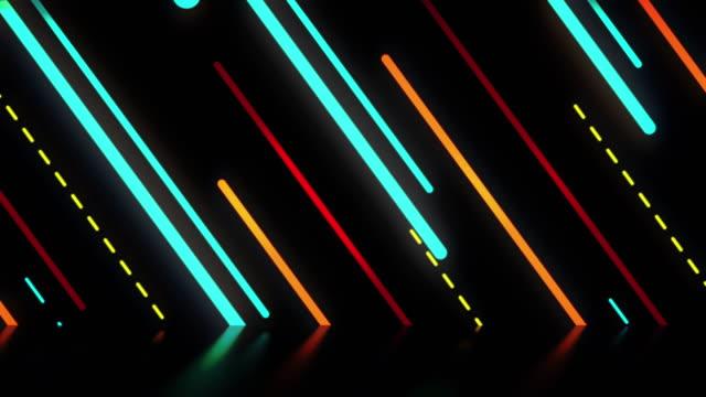 stockvideo's en b-roll-footage met abstracte retro gestreepte achtergrond - vj