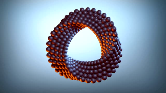 abstract rotating sphere loop - simbolo video stock e b–roll