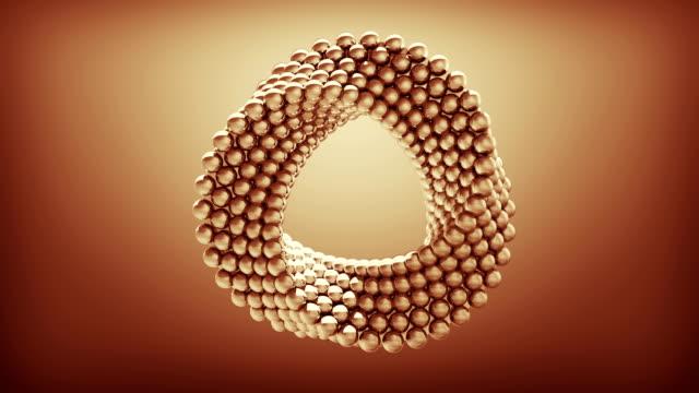 abstrakt roterande sfär - kula geometriformad bildbanksvideor och videomaterial från bakom kulisserna