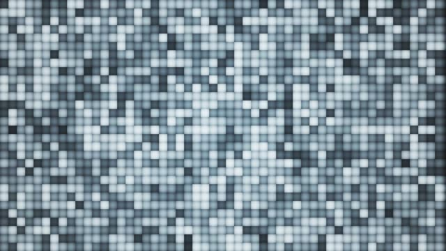 abstract rows of colorful pixels blinking, small squares of different colors flowing, disco mosaic loop - square shape stock videos & royalty-free footage