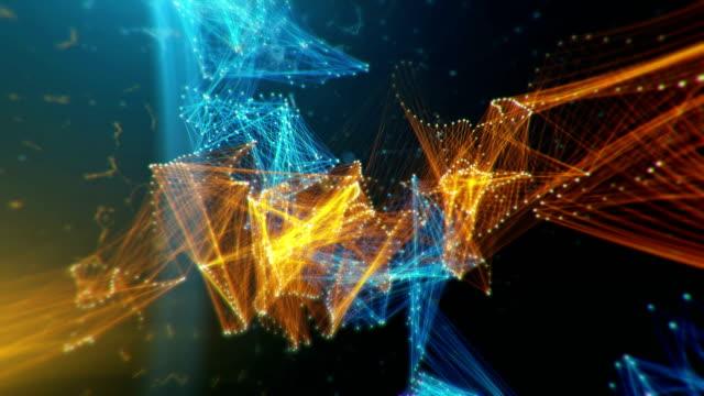 abstract scientific background - plexus stock videos & royalty-free footage