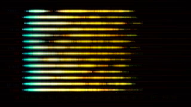 レベル インジケーターと抽象的な画面 - インフォグラフィック点の映像素材/bロール