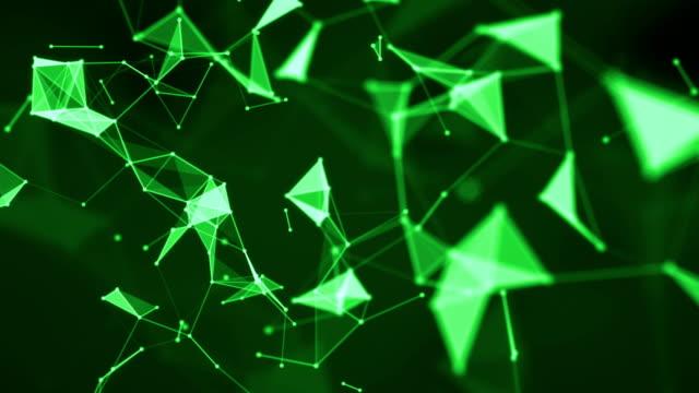 vídeos y material grabado en eventos de stock de resumen antecedentes geométricos sin costura de 4k. conexión de red - geometría